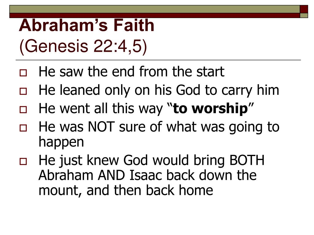 Abraham's Faith