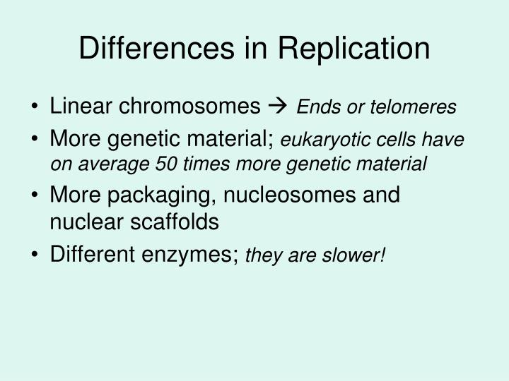 Differences in Replication