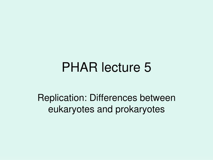 Phar lecture 5