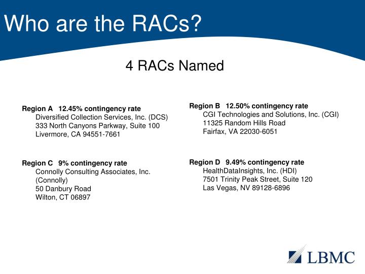 Who are the RACs?