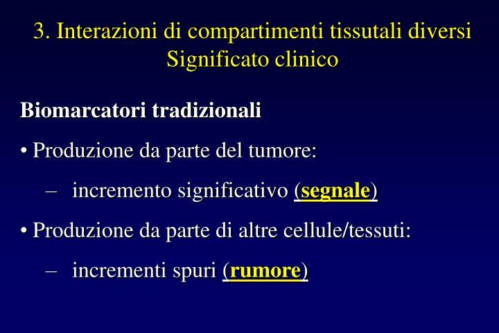 3. Interazioni di compartimenti tissutali diversi
