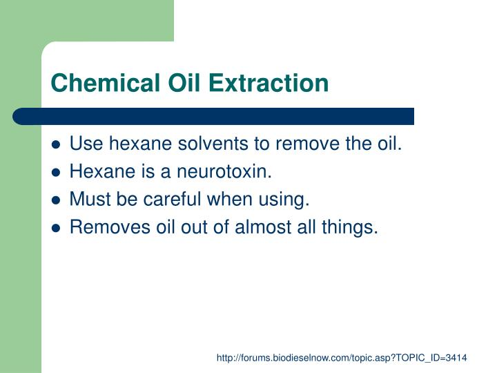 Chemical Oil Extraction
