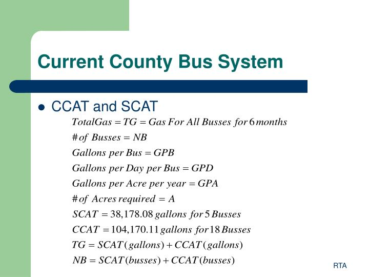 Current County Bus System