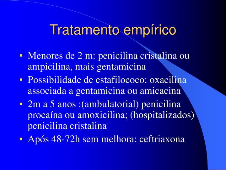 Tratamento empírico
