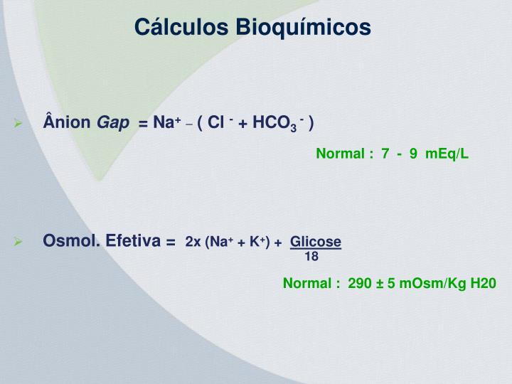 Cálculos Bioquímicos