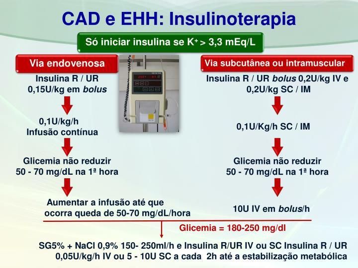CAD e EHH: Insulinoterapia