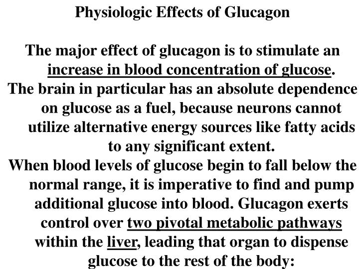 Physiologic Effects of Glucagon