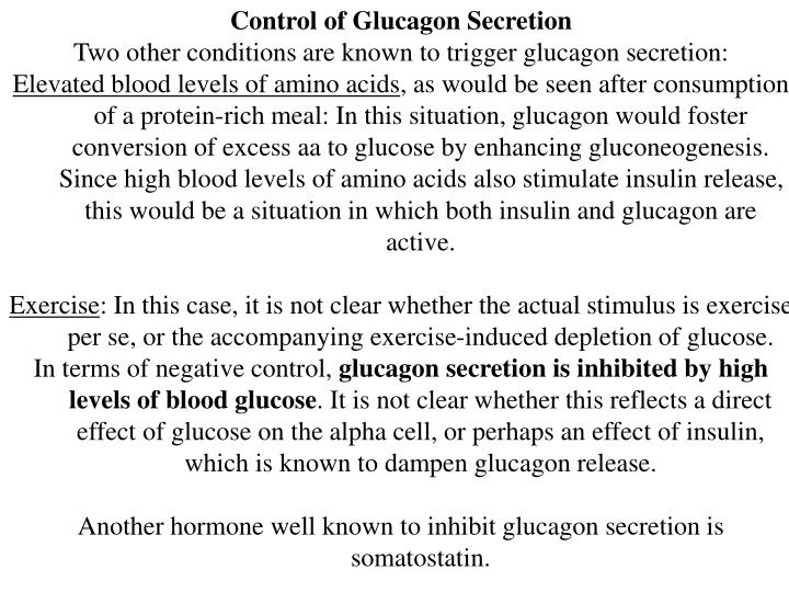 Control of Glucagon Secretion