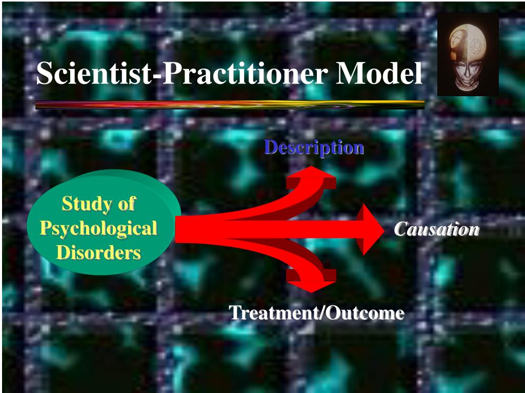 describe the scientist practitioner model for i o The scientist-practitioner model of education was founded on the principle to increase scientific research in the field of clinical psychology in the united states it brought.