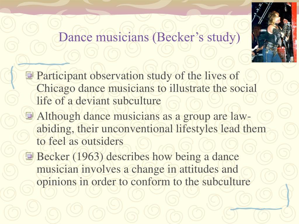 Dance musicians (Becker's study)