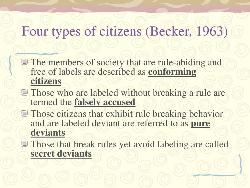 Four types of citizens (Becker, 1963)