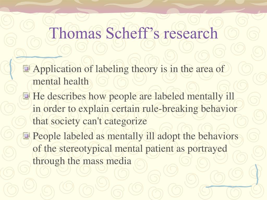 Thomas Scheff's research