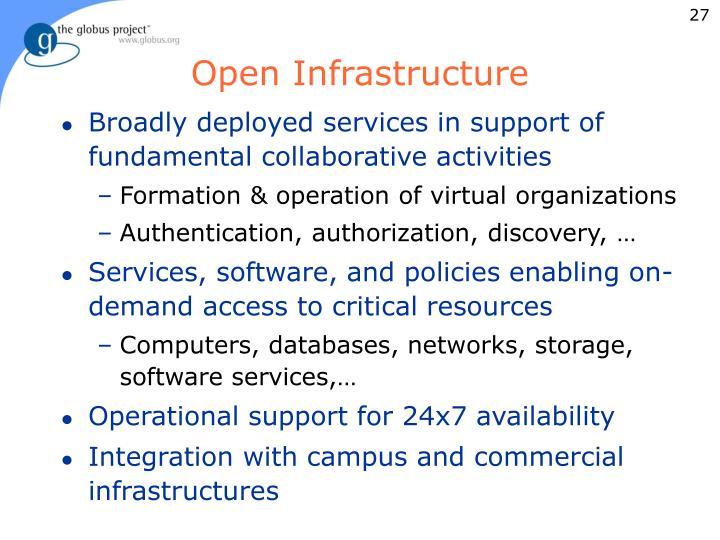 Open Infrastructure