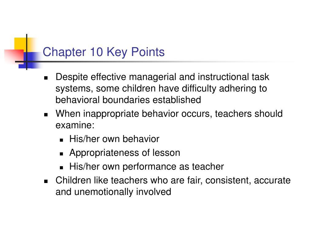 Chapter 10 Key Points