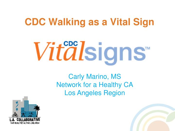 CDC Walking as a Vital Sign