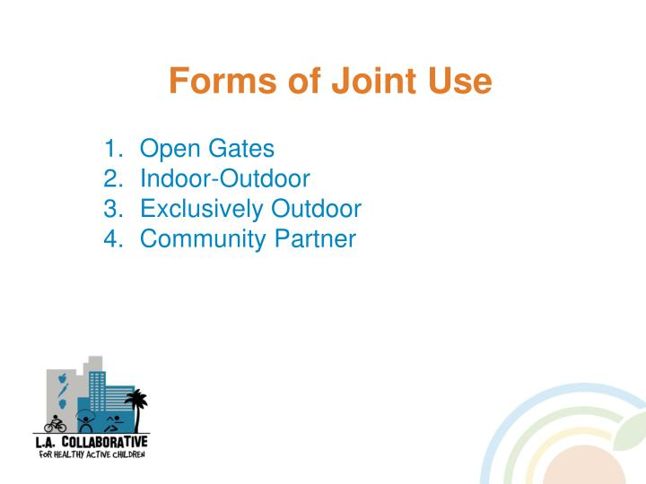 Forms of Joint Use