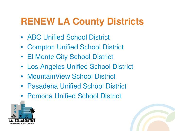 RENEW LA County Districts