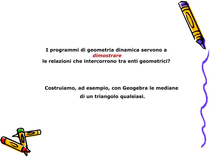 I programmi di geometria dinamica servono a