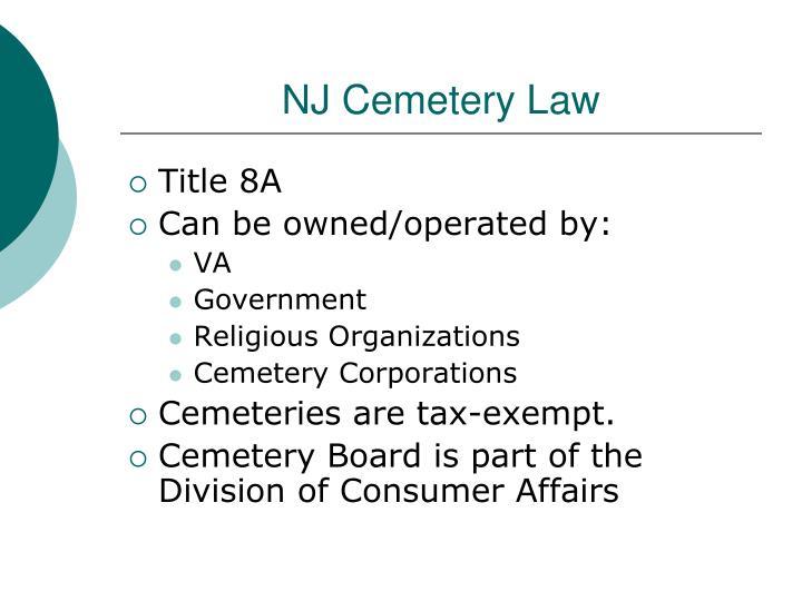 NJ Cemetery Law