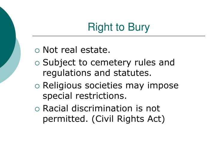Right to Bury