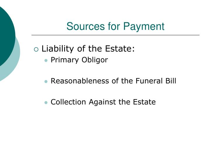 Sources for Payment
