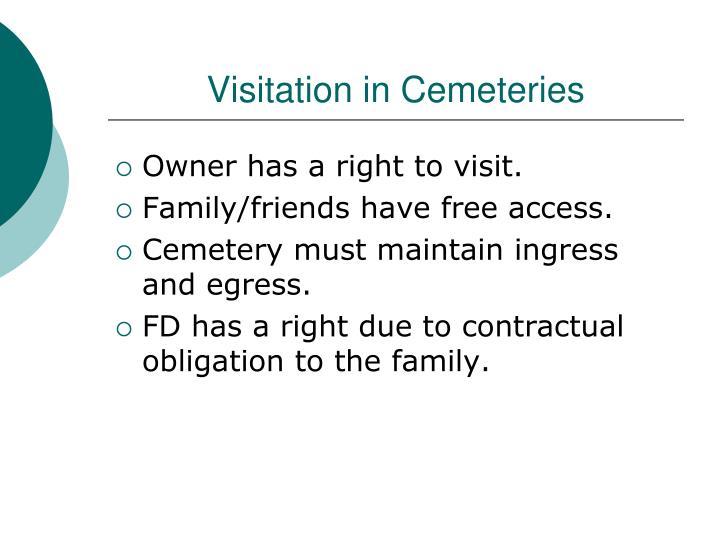 Visitation in Cemeteries