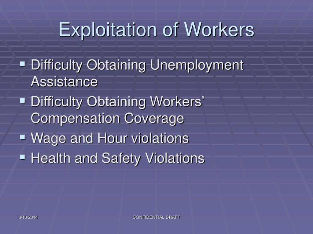 Exploitation of Workers