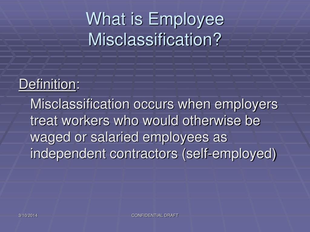 What is Employee Misclassification?