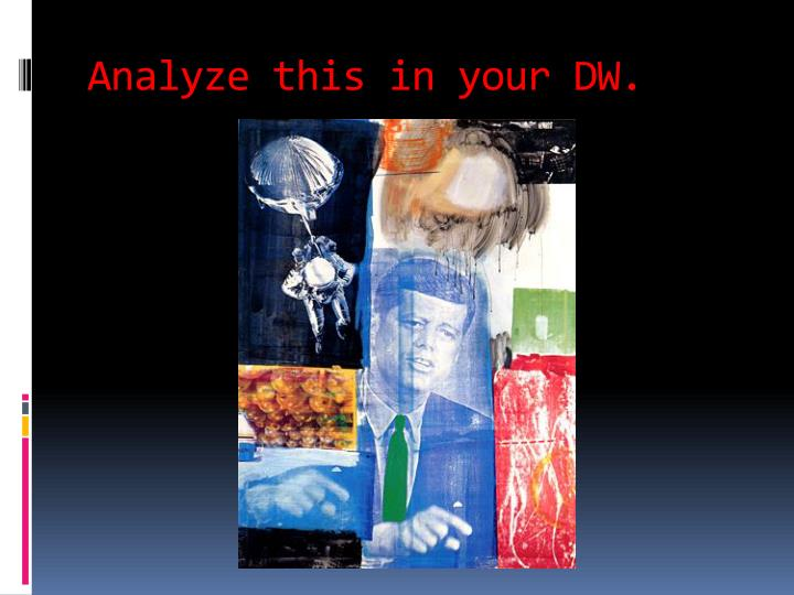Analyze this in your DW.