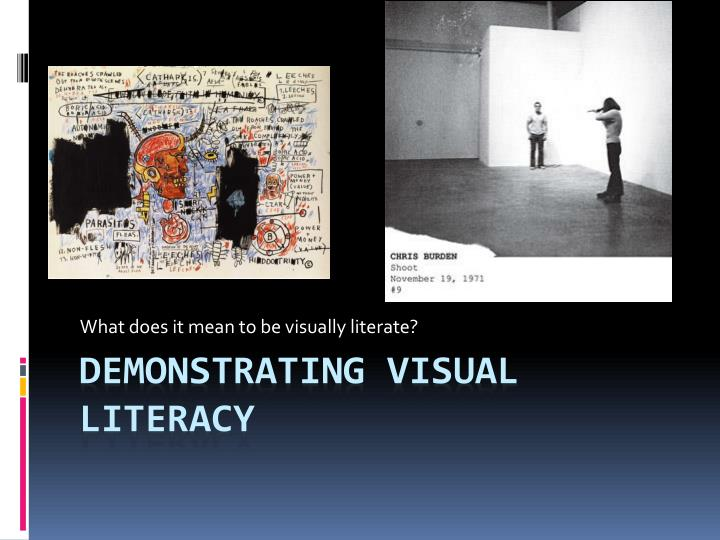 What does it mean to be visually literate