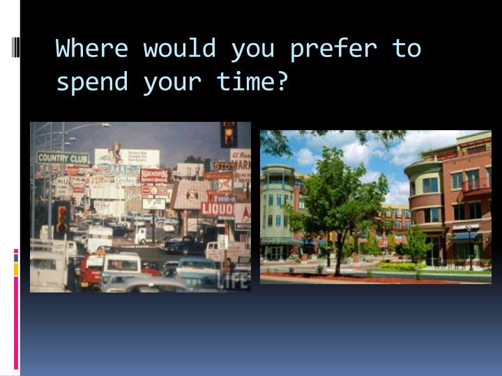 Where would you prefer to spend your time?