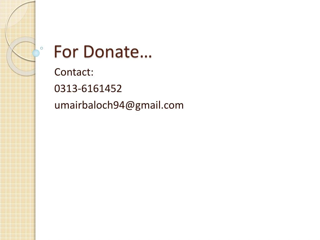 For Donate…