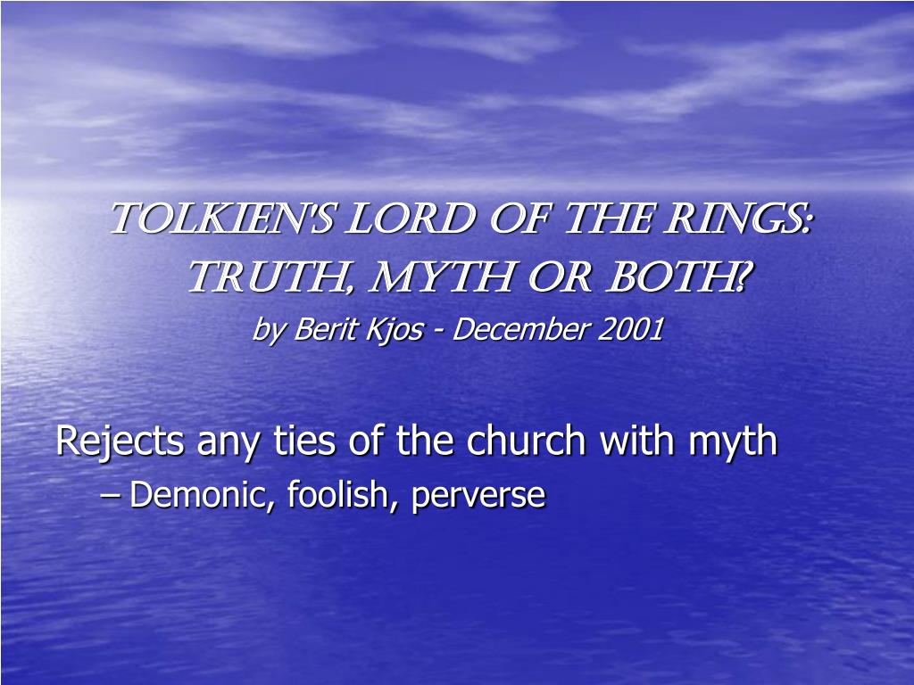 Tolkien's Lord of the Rings: