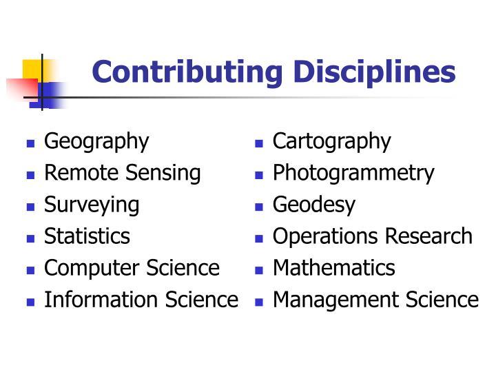 Contributing Disciplines