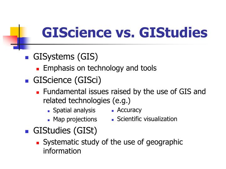 GIScience vs. GIStudies