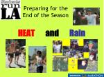 preparing for the end of the season