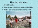 remind students