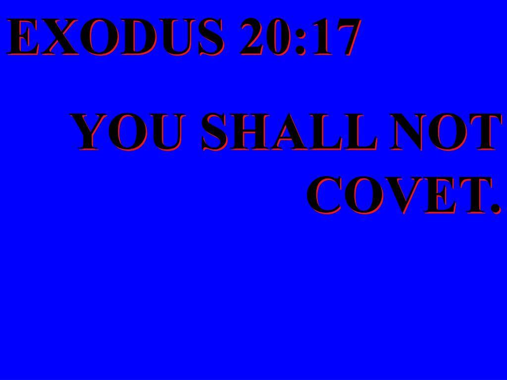 EXODUS 20:17