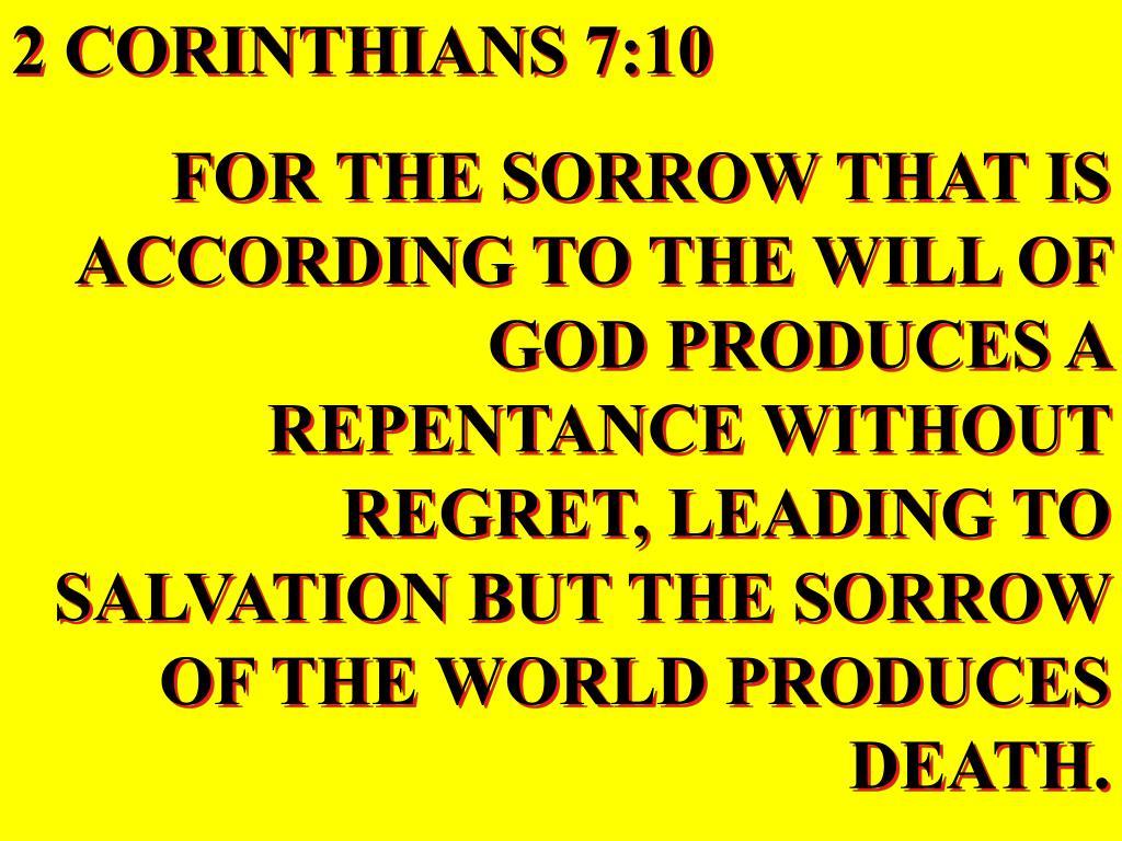 2 CORINTHIANS 7:10