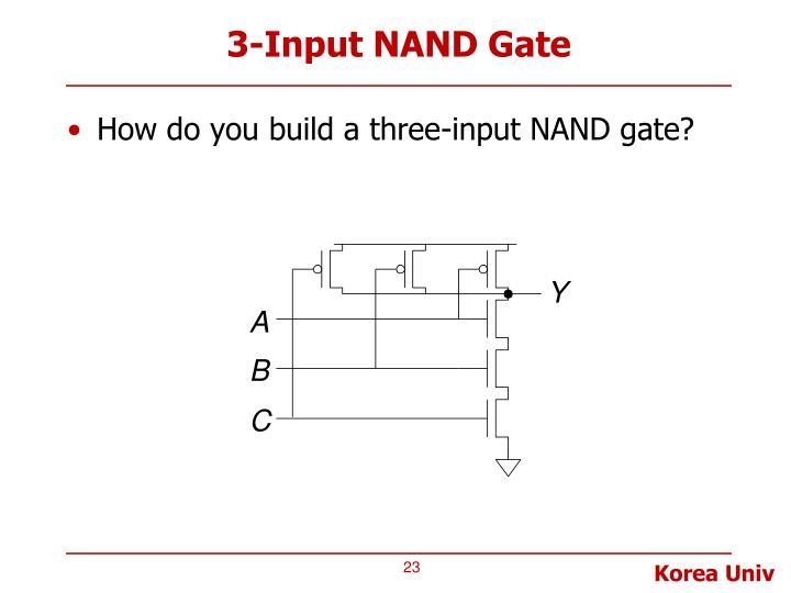 3-Input NAND Gate
