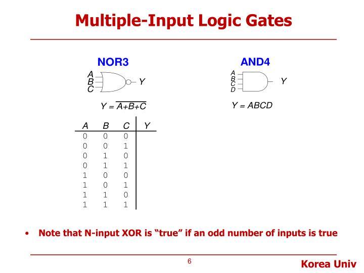 Multiple-Input Logic Gates