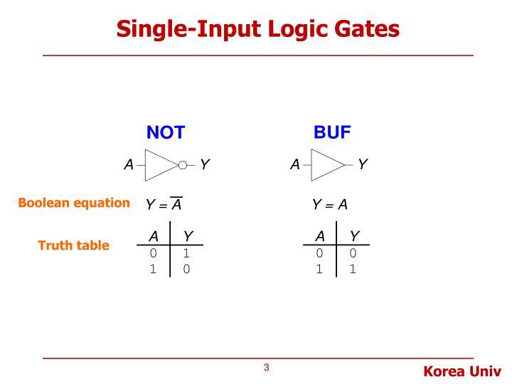 Single-Input Logic Gates