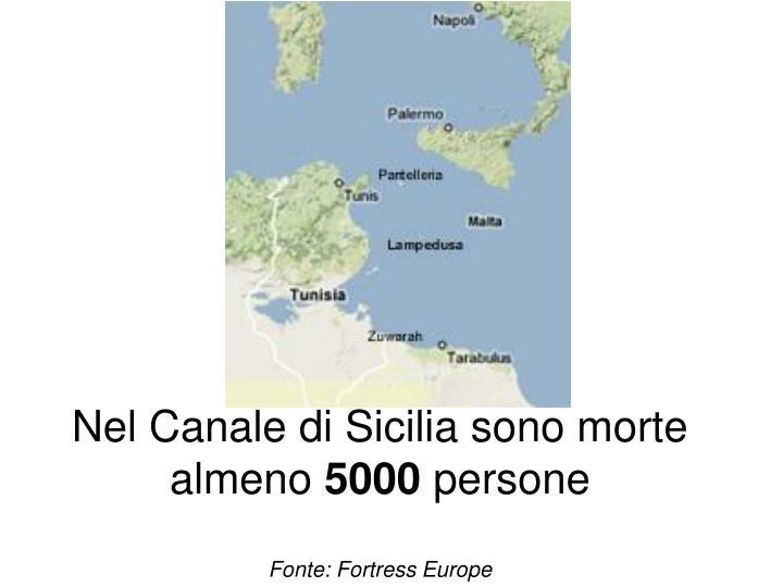 Nel Canale di Sicilia sono morte almeno