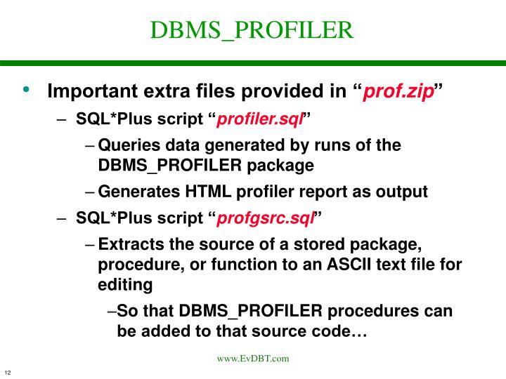 DBMS_PROFILER