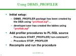 using dbms profiler