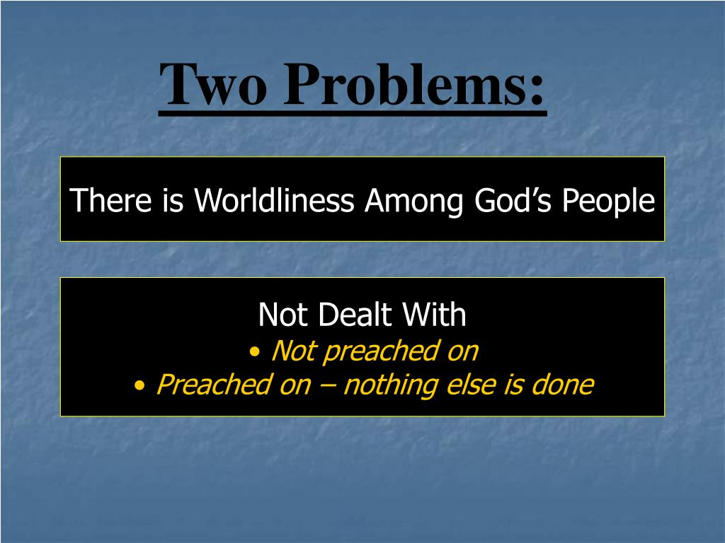 Two Problems: