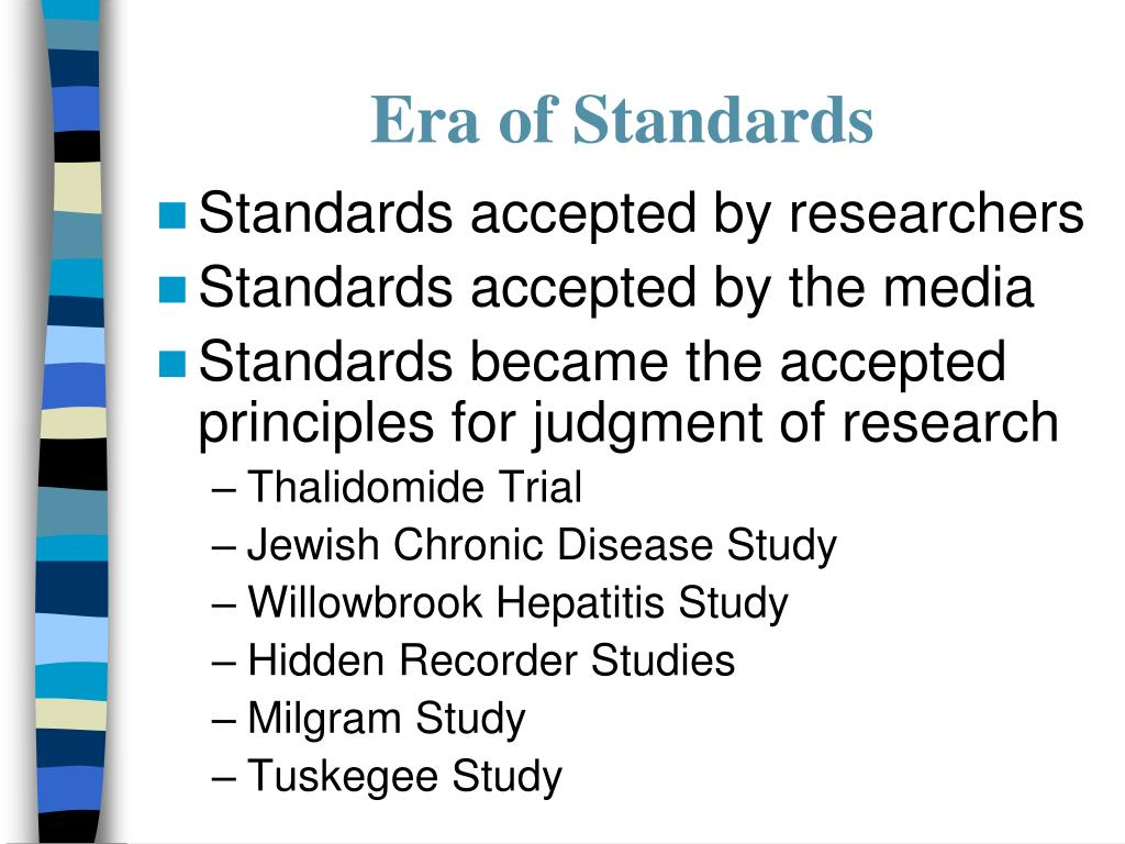 Era of Standards