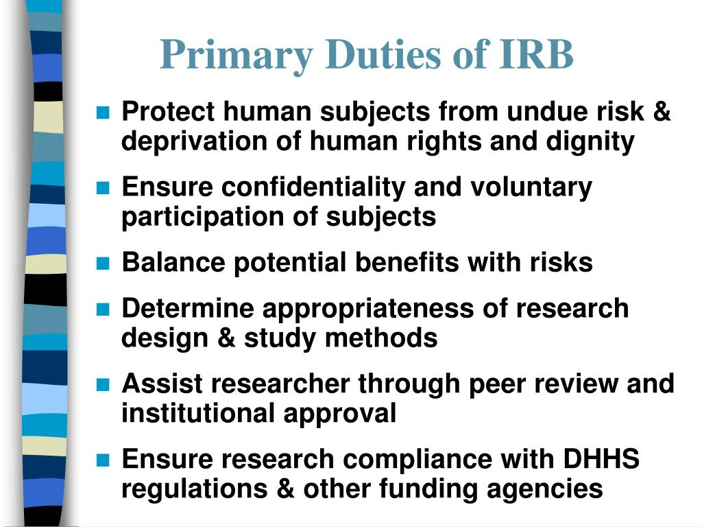 Primary Duties of IRB