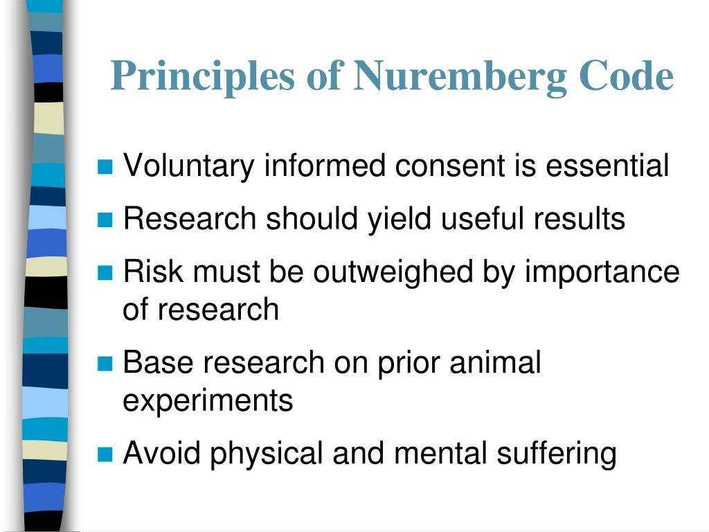 Principles of Nuremberg Code