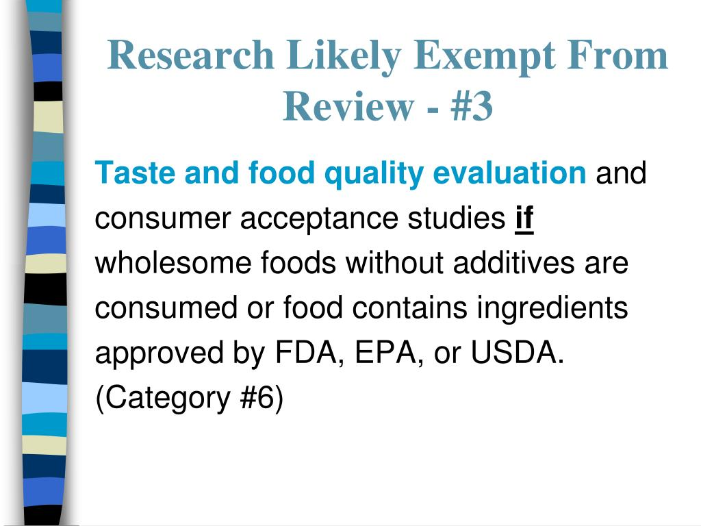 Research Likely Exempt From Review - #3